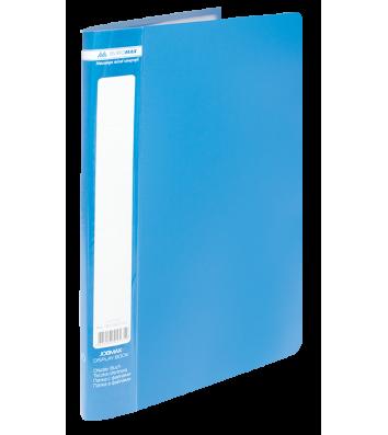 Папка А4 пластикова з 10 файлами синя Jobmax, Buromax