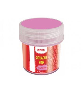 Краска гуашевая 40мл розовая, Maxi