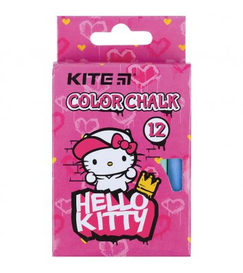 "Крейда кольорова 12 шт ""Hello Kitty"", Kite"