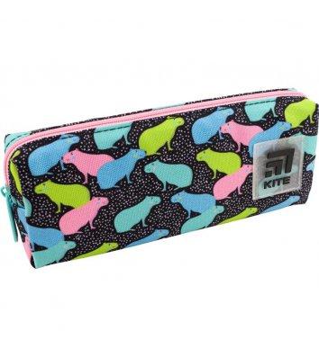 Пенал м'який 1 відділення на блискавці Stay Positive, Kite