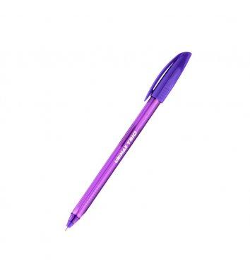Ручка кулькова Trio, колір чорнил фіолетовий 1мм, Unimax
