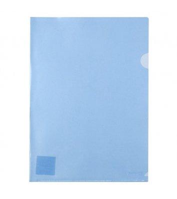 Папка-уголок А4 пластиковая синяя, Axent
