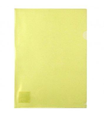 Папка-уголок А4 пластиковая желтая, Axent