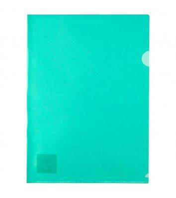 Папка-уголок А4 пластиковая зеленая, Axent
