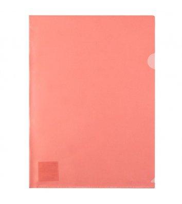 Папка-уголок А4 пластиковая красная, Axent