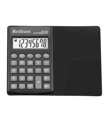 Калькулятор  8 розрядів кишеньковий 62*98*10мм, Brilliant
