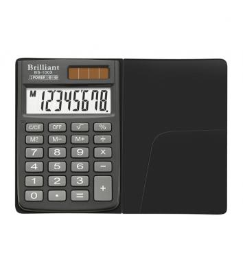 Калькулятор  8 розрядів кишеньковий 58*88*10мм, Brilliant