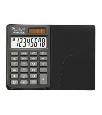 Калькулятор 8 разрядов карманный 58*88*10мм, Brilliant