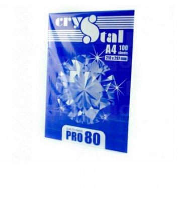 Бумага офисная А4 80г/м2 100л клас С Crystal Pro, белая
