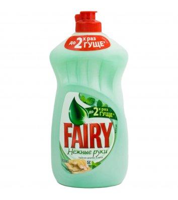 Средство для мытья посуды Fairy 500мл, чайное дерево и мята