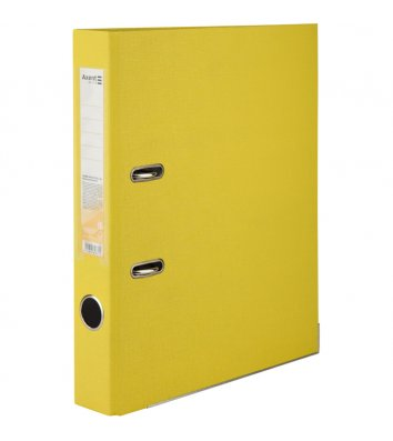 Папка-реєстратор А4 75мм двостороння жовта, Axent