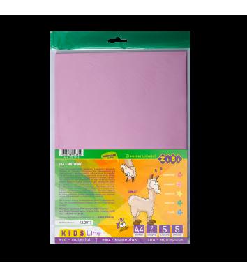 Папір кольоровий EVA А4 5арк 5 кольорів, Zibi
