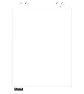 Блокнот для фліпчарту 20арк 640*900мм білий нелінований, Buromax