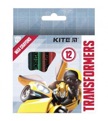 """Крейда воскова кольорова 12шт """"Transformers"""", Kite"""