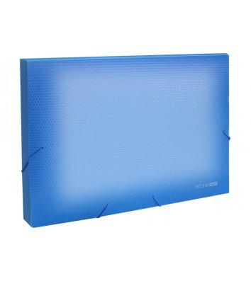 Папка-бокс А4 20мм пластиковая на резинках прозрачно-синяя, Economix