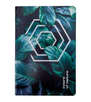 Блокнот А5 60арк клітинка Colors of Nature, Axent