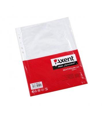 Файлы А4+ 40мкм 100шт глянцевые, Axent