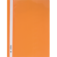 Папка-швидкозшивач А4 без перфорації, фактура глянець помаранчева, Buromax