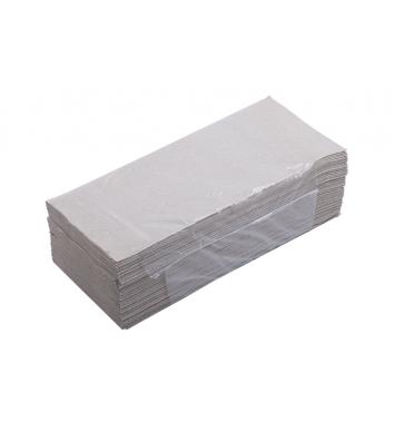 Рушники паперові  одношарові 160шт Z-складання сірі, Buroclean