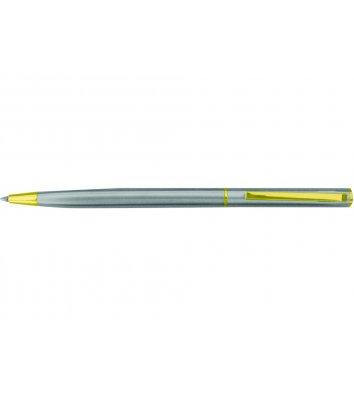 Ручка кулькова Canoe, колір корпусу сріблястий, Cabinet