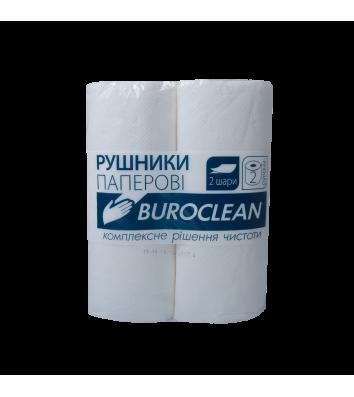 Рушники паперові двошарові 2рул білі, Buroclean