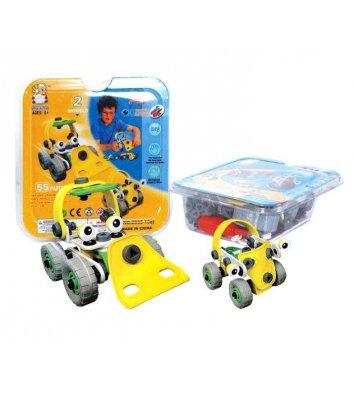 Конструктор пластиковий з гнучкими деталями - 2 машини, Flexible Build&Play