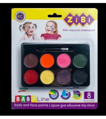 Краски для лица 8 цветов, Zibi