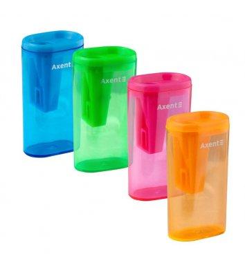 Чинка пластиковая 1 лезвие с контейнером, Axent