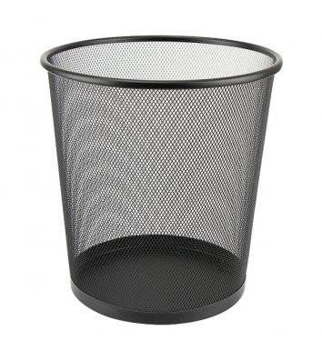 Корзина для сміття металева чорна 10л, Axent