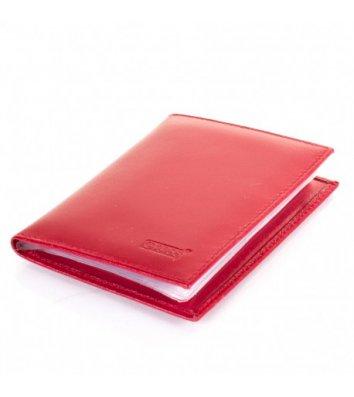 Обкладинка для документів шкіряна червона, Grass
