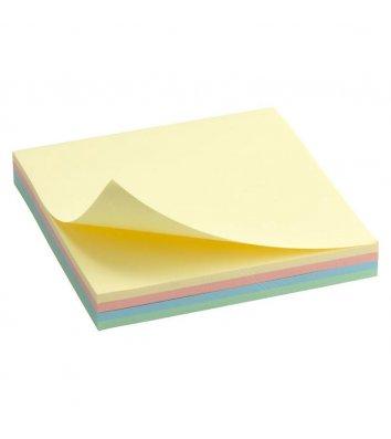 Стікери 75*75мм 100арк 4 пастельні кольори асорті, Axent