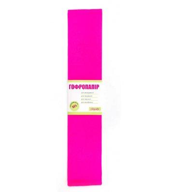 Бумага гофрированная 110% 35,7г/м2 50*200см темно-розовый, 1 Вересня