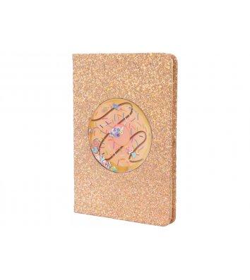 Блокнот з блискітками та конфетті  A5 80арк лінія, Maxi