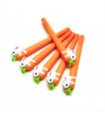 Ручка гелева Морквинка, колір чорнил синій 0,5мм