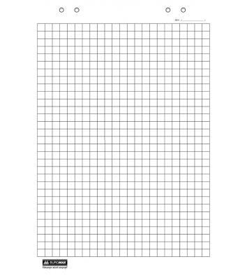 Блокнот для флипчарта 20л 640*900мм белый клетка, Buromax