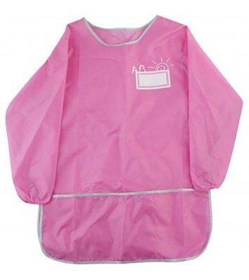 Фартук с рукавами и спинкой розовый, Cool for School