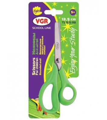 Ножиці дитячі 13,5см  ручки пластикові асорті, VGR