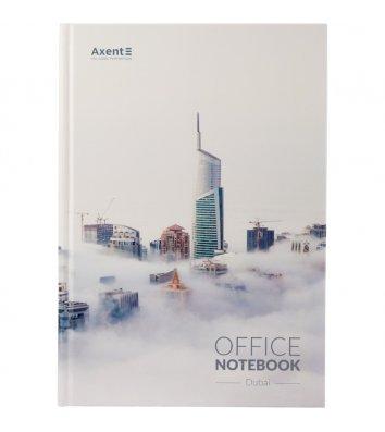 Книга канцелярська А4 192арк клітинка тверда обкладинка Dubai, Axent