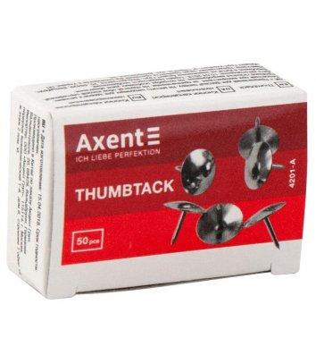 Кнопки нікельовані  50шт, Axent