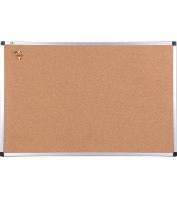 Доска пробковая 90*120см, рамка алюминиевая S-line, ABC Office