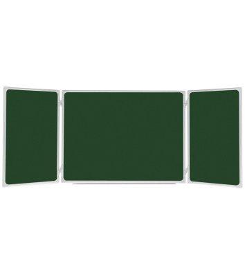 Дошка для крейди трьохелементна 100*400см, рамка алюмінієва, ABC Office