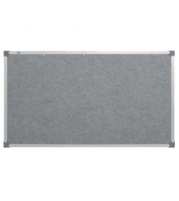 Дошка текстильна  65*100см сіра, рамка алюмінієва, ABC Office