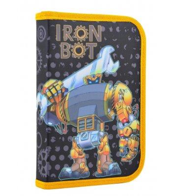 """Пенал твердый 1 отделение на молнии """"Ironbot"""", Smart"""