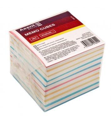 Папір для нотаток 90*90мм 1000арк кольоровий непроклеєний MIX, Axent