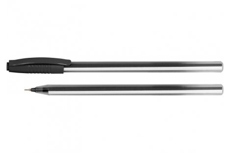 Ручка масляна Line, колір чорнил чорний 0,7мм, Economix