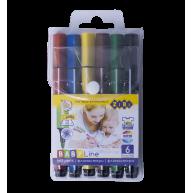 Фломастери  6 кольорів тригранні Jumbo, Zibi