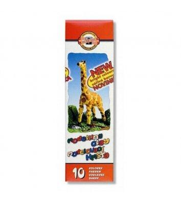 """Пластилін 10 кольорів 200г """"Жираф"""", KOH-I-NOOR"""