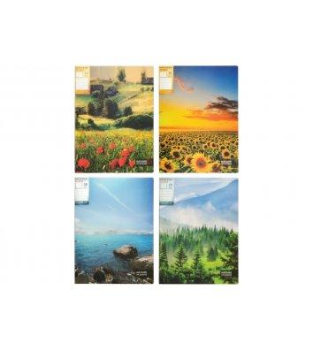 "Папка А4 пластикова з 20 файлами ""Nature of Ukraine"", Optima"