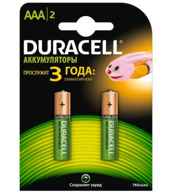 Акумулятор Duracell AAA HR03 750mAh