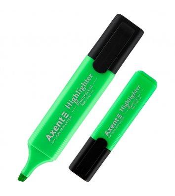 Маркер текстовый Highlighter, цвет чернил зеленый 1-5мм, Axent